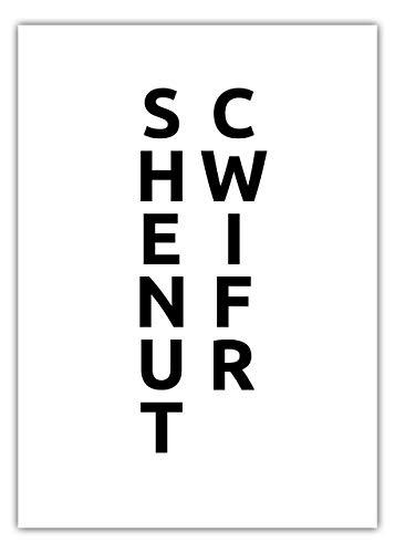 MOTIVISSO Städteposter SCHWEINFURT (weiß/schwarz) in 30cm X 40cm Bild Plakat Stadt Geschenk Modern