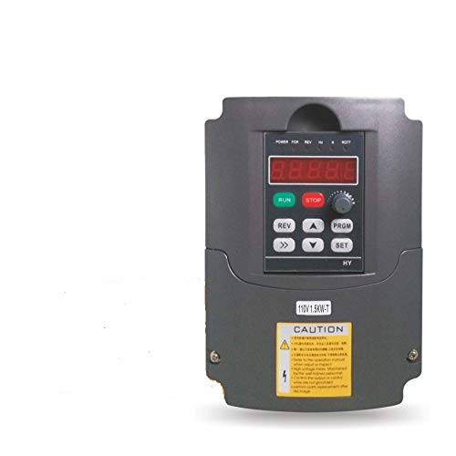 Huanyang VFD CNC Variable Frequency Drive Converter Controller 1 phase 110v input 220v 3 phase output 1.5kw 2hp Inverter for Motor Speed Control
