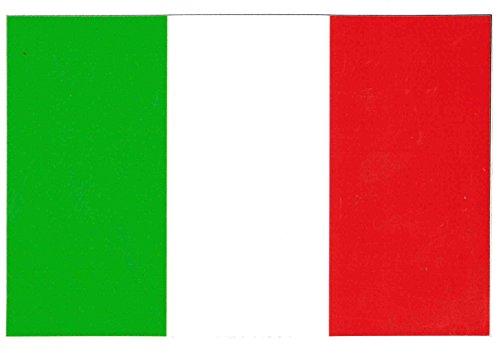 Italiaanse vlag – drie kleuren – sticker (DIM. 15 x 10 cm.