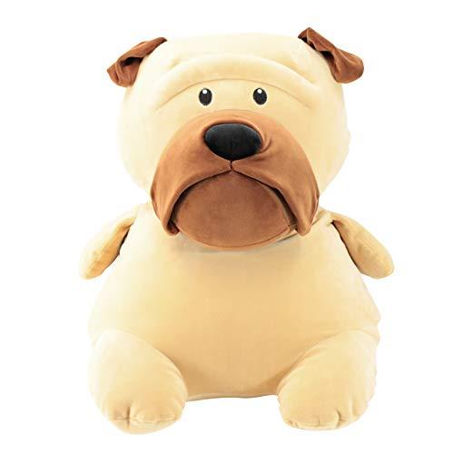 Animal Adventure | Squeeze with Love | Super Puffed Plush | Stud Muffins | Jumbo Grand Size | Pug, 58627, Tan