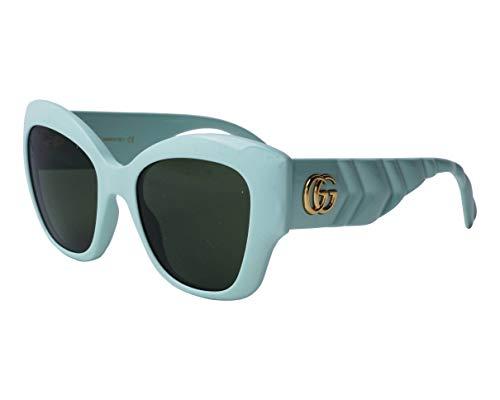 Gucci Gafas de sol GG0808S 004 Gafas de sol mujer color Verde verde tamaño de lente 53 mm