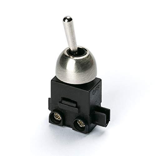 Einbauschalter Kippschalter ON/OFF Ein/Aus 250V Leuchten 1polig 2(1) A LS-2 gold silber antik Lampen Tischlampen Wandleuchten (Edelstahl)