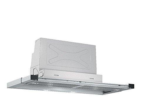 Bosch DFR097T50 Serie 6 Flachschirmhaube / B / 90 cm / Edelstahl / wahlweise Umluft- oder Abluftbetrieb / Kurzhubtasten / Silence / Intensivstufe / Metallfettfilter (spülmaschinengeeignet)