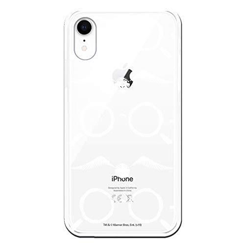 Funda para iPhone XR Oficial de Harry Potter Gafas Siluetas para Proteger tu móvil. Carcasa para Apple de Silicona Flexible con Licencia Oficial de Harry Potter.