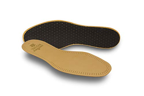 Pedag 102 Royal Vegetable Tanned Sheepskin Insole with Natural Active Carbon Filter, Slightly Padded with Latex Foam, Tan Leather, Men's 11