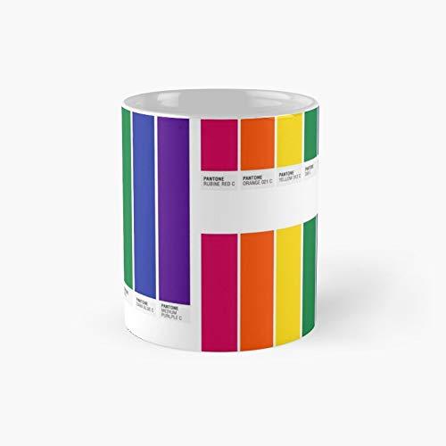 Pantone Pride Tasse mit Flaggen-Motiv, für Damen, Vatertag oder Muttertag, lustiges Geschenk für Vater, Mutter, Enkel, Tochter, Sohn, Großmutter, Vater, 313 ml