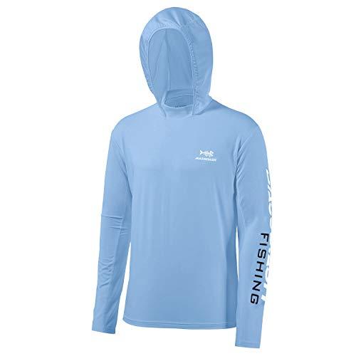 Bassdash Herren Kapuzenpullover Shirt Sonnenschutz UPF50+ UV Pullover Langarm Hoodie für Angeln Schwimmen Rash Guard
