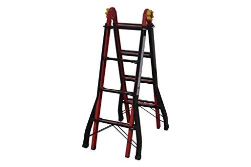 Cofan 09401080 Escalera multiposición con 4x4 peldaños, 0.011 V, 4,50 m