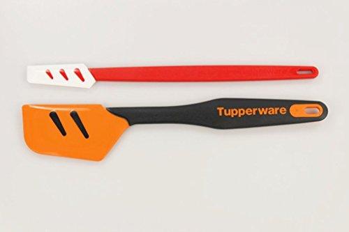 TUPPERWARE Griffbereit Top-Schaber orange-schwarz groß+ weiß-rot klein 30852