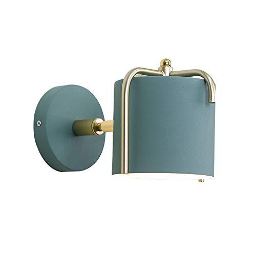 WYVV Estructura de Metal Ajustable de Pared de luz, en la alcoba Iluminación lámpara de cabecera for el Restaurante de baño Espejo Faros Foyers Pasillos entradas (Color : Green)