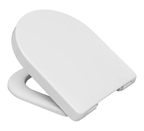 CEDO 532896 - Sedile Copriwater, Forma D, Duroplast, Soft Close e Take Off, Bianco