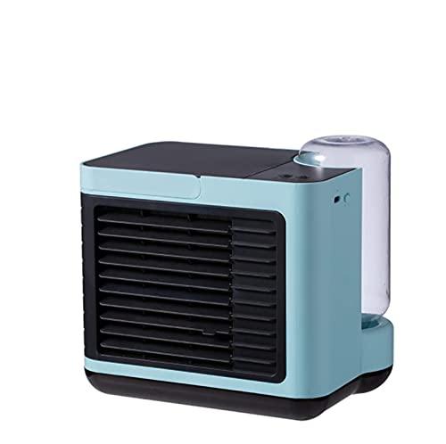 Mini acondicionador de aire móvil, refrigerador de aire 4 en 1, aire acondicionado portátil USB, humidificador / filtro, ventilador de escritorio, 3 velocidades, luz LED, aire acondicionado personal p