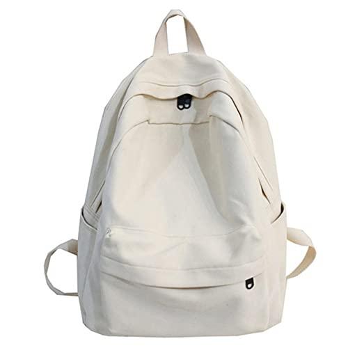Mochila de negocios para ordenador portátil, bolsa de libros femenina, mochila de algodón para mujer, para adolescentes, colegio, hombre blanco