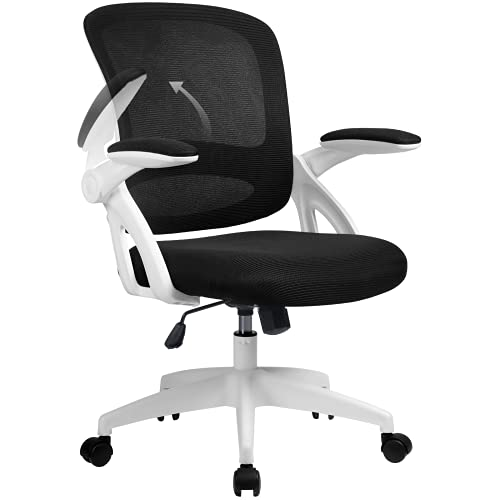 [Amazon限定ブランド] COMHOMA デスクチェア オフィスチェア メッシュ 椅子 疲れにくい パソコンチェア 可動式アームレスト 通気性 キャスター付き 高さ調節 ロッキング機能 PCチェア CH121-WHITE