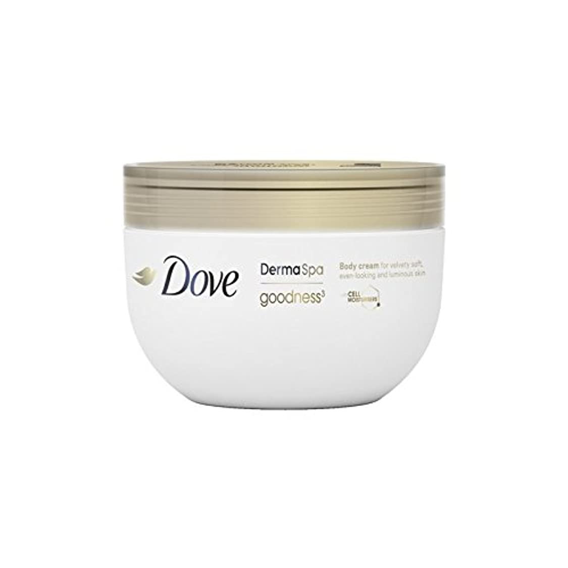 びっくりした終了するお誕生日鳩の3ボディクリーム(300ミリリットル) x2 - Dove DermaSpa Goodness3 Body Cream (300ml) (Pack of 2) [並行輸入品]