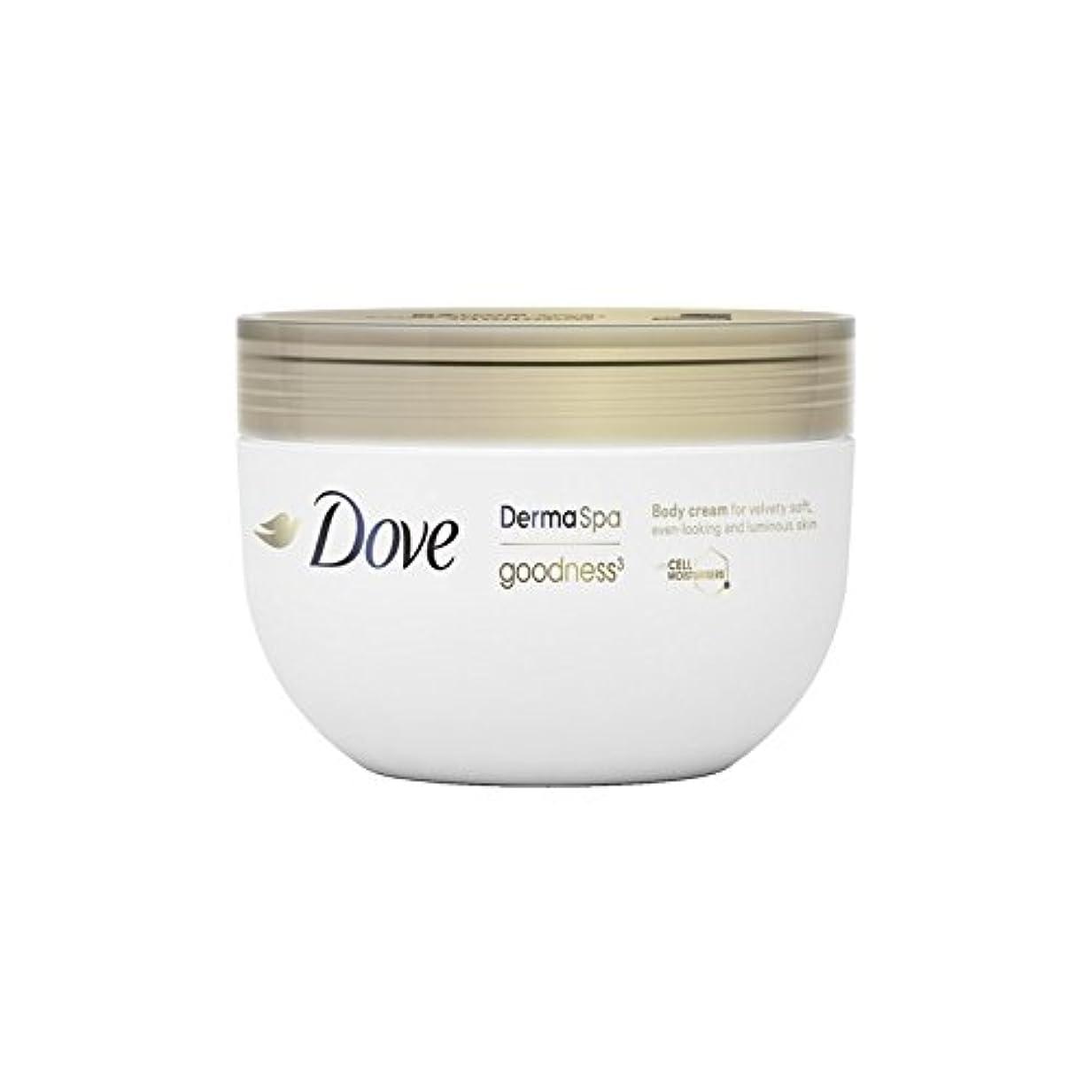 へこみ揃えるクモ鳩の3ボディクリーム(300ミリリットル) x2 - Dove DermaSpa Goodness3 Body Cream (300ml) (Pack of 2) [並行輸入品]