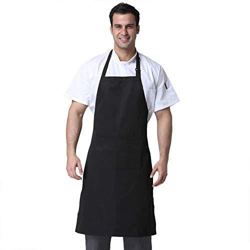Wellehomi Schürze Küchenschürze Kochschürze mit Verstellbare Nackenschlaufe Grillschürze Serviceschürze Latzschürze Barista Schürze Gärtnerschürze 2 Taschen und wasserdicht Einfach zu Reinigen