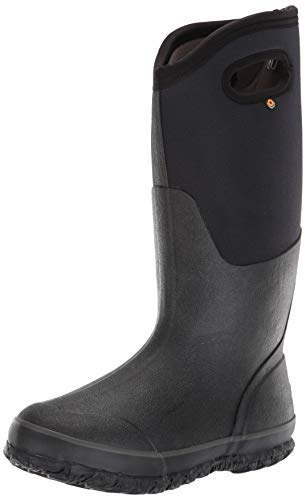 Bogs Women's Classic High Handle Waterproof Insulated Boot,Black,10 M US