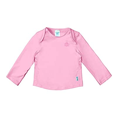i play. by green sprouts Girls' Baby Long Sleeve Rashguard | All-Day UPF 50+ Sun Protectionwet Or Dry, Light Pink, 24mo