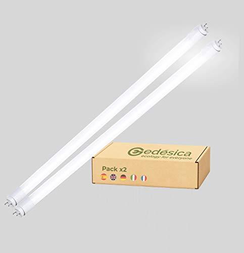 Pack x2, Tubo Led, 18w 120cm 6000K, Luz Blanca Fria 2160Lm, G13 conexión 2 laterales, Ideal para Cocina, Oficina