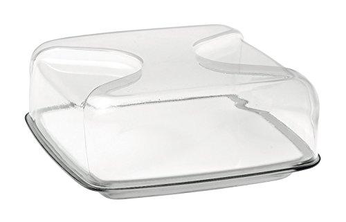 Guzzini Fratelli Gocce, Quadratische Käseglocke, SAN|Porcelain