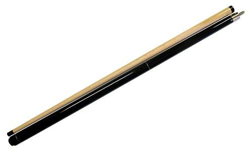 "Iszy Billiards 58"" - 2 Piece Break Pool Cue - Billiard Stick Hardwood Canadian Maple 23 Ounce, Black (B-Break-1)"