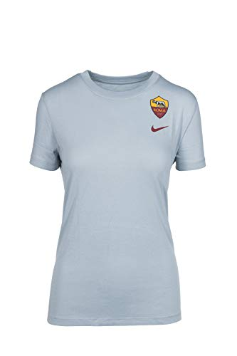 NIKE Camiseta Evergrren Crest Gris 2019/20, Camiseta Mujer, Mujer, Camiseta, AJ7714, Gris, L