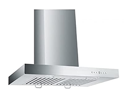 """ZLINE 36"""" Convertible Vent Wall Mount Range Hood in Stainless Steel with Crown Molding (KECRN-36)"""