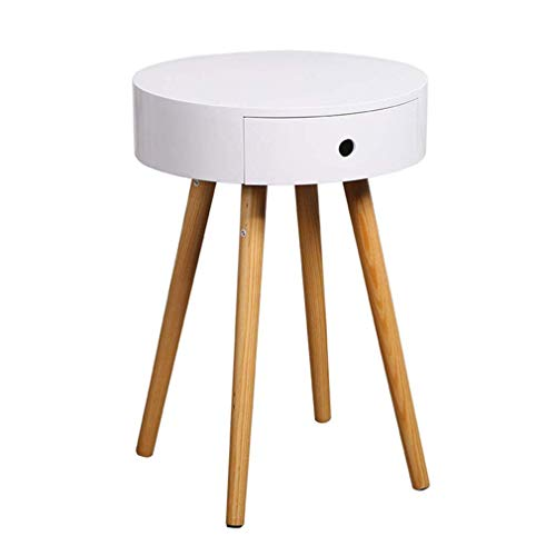 Nordic salontafel houten woonkamer mini ronde tafel bed bank bank bank tafel met wit, grijs, wit lade
