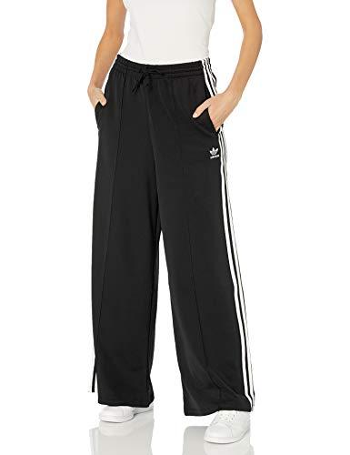 adidas Originals womens Primeblue Relaxed Wide Leg Pants Black Medium