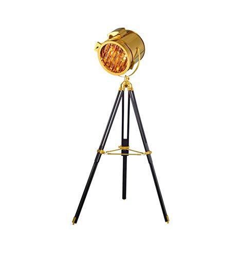 American vloerlamp Loft Vintage industriële wind driepoot woonkamer hoofdzoek E27 totale hoogte 165 cm (kleur: brons)