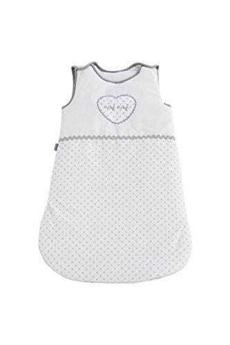 Naf Naf Spannbettlaken de Dormir 100% Algodón Embroidery Heart Gris