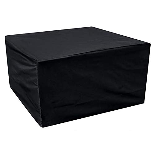 MEEYI Garden Table Cover 350x260x90cm, Rectangular Waterproof, Anti-UV, Rip Proof Stacking Chair Cover, for Tables, Stackable Chairs Outdoor Furniture Protector. - Black