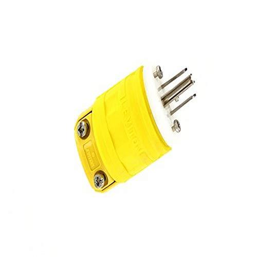 Leviton 1447-P 15 Amp, 125 Volt, 2-Pole, 3-Wire, Dustguard, Straight Blade, Plug