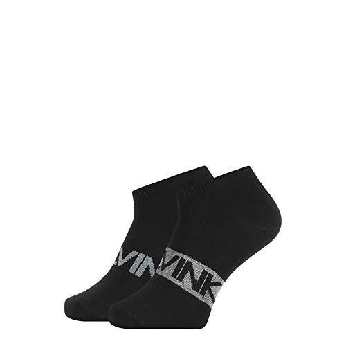 Calvin Klein Socks Mens Liner 2p Intense Power Dirk Socks, Black Combo, 43/46