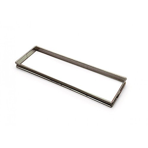 Gobel 865310 Flan à Tarte Rectangulaire Inox Bords Roulés 35*10 cm