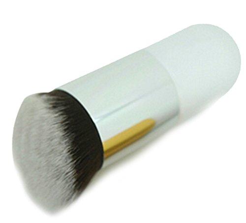 CAOLATOR Brosse de fondation portable BB pinceau brosse de maquillage Portable Tête ronde Blanc