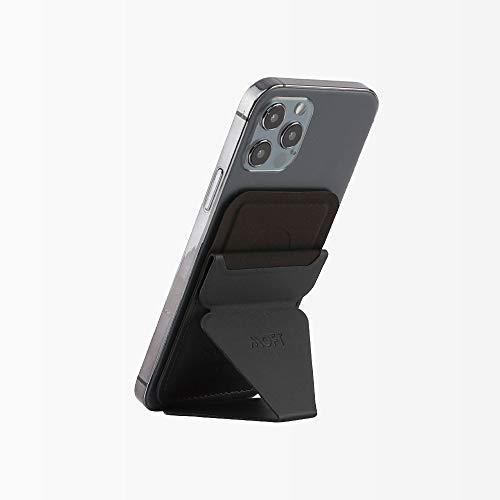 MOFT【ブランド ストア】マグネットスマートホンスタンド iPhone 12対応 スマートホンスタンドホルダーマグネット MagSafe対応 スマートホンスタンドマグネット 磁力超強 スマートホンホルダーマグネット 角度調節 カードケース機能 薄型軽量 折り畳み式 複合材質 磁石十六個