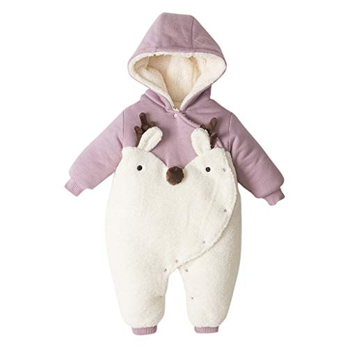 Baby Rompers Jongens Meisjes Katoen Jumpsuit Baby Winter Cartoon Hoodie Sneeuwpak Outfits Set 0-2 Jaar Oude Baby