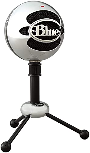 Blue Snowball USB Mic for PC & Mac, Podcast, Gaming, Streaming and Recording Microphone, Omidirectional/Cardioid Condenser- Brushed Aluminum