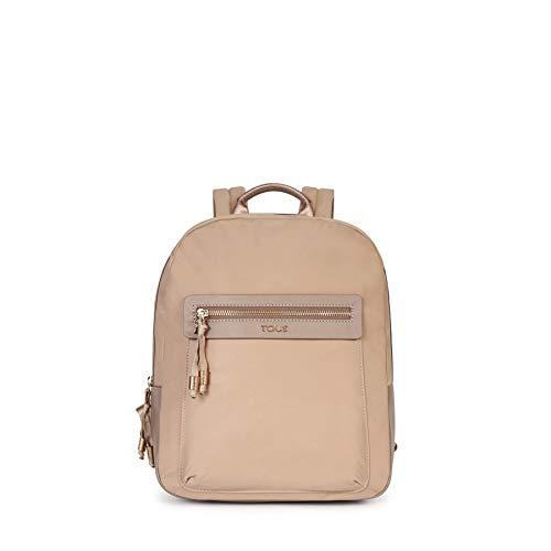 TOUS 695810088, Bolso mochila para Mujer, Beige (Topo), 26x33x9.5 cm (W x H x L)