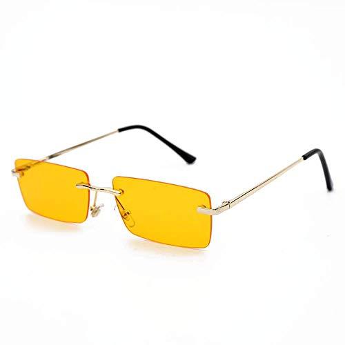 Gafas De Sol Polarizadas Gafas De Sol Rectangulares Vintage para Mujer, con Montura Metálica De Ojo De Gato, Gafas De Sol Cuadradas para Hombre, Gafas De Sol Unisex para Fiest