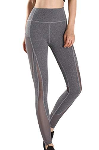 Yoga leggings vrouwen workout chic loopbroek jongens broek mesh patchwork effen kleuren skinny stretch joggingbroek yogabroek