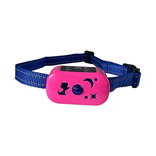 wuxafe Collar Adiestramiento Perros, Collar De Adiestramiento Perros con 3 Modo De Sonido, Vibración, Luz Y Descarga Eléctrica, Recargable Y Resistencia Al Agua De con