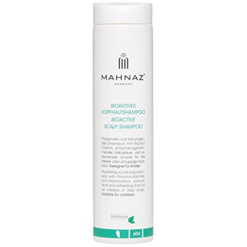 MAHNAZ Bioaktives Kopfhautshampoo, gegen Schuppen, Juckreiz und fettige Kopfhaut, sanft & wirksam, 200ml