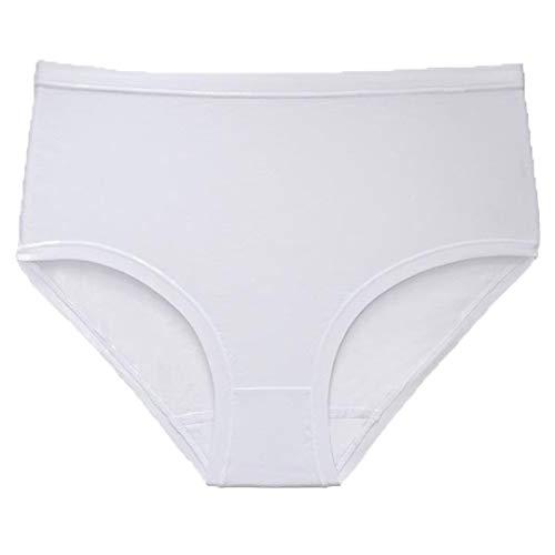 Leo 905 - Corsé para Mujer, Liso, de algodón, sin elásticos, Cintura Alta, hipoalergénico Bianco 50