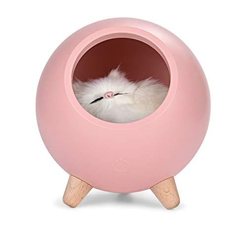 Luz de noche para casa de mascotas, luz de noche de carga USB regulable continua, para sala de estar y dormitorio de niños (rosa;) BCVBFGCXVB