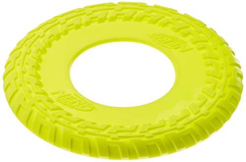 Nerf Dog Zabawka dla psów Profil Flyer, Frisbee z gumy, termoplastyczna guma, dostawa posortowana pod względem koloru, niebieska lub zielona, 30,5 cm