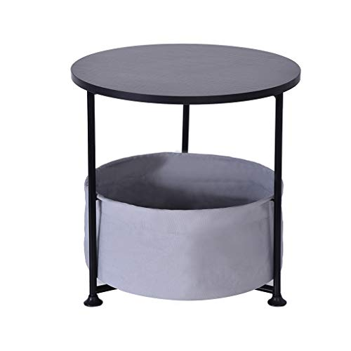 Why Should You Buy Chouwow Nightstand 3 Layer Side Table, Snack Table with Fabric Storage Basket for...