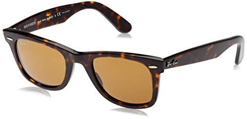 Ray-Ban Herren Sonnenbrille Wayfarer RB 2140, Gr. 50 mm, Havanna